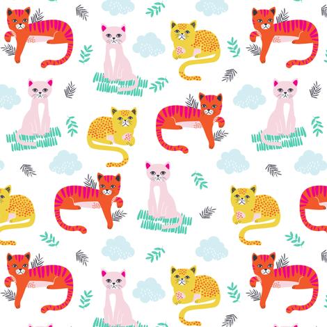 GRUMPY_CATS_up_close fabric by michelepayne on Spoonflower - custom fabric