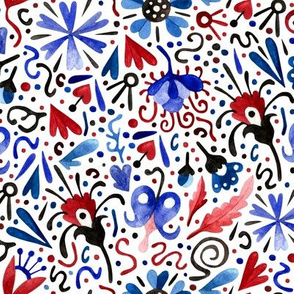 red and blue party