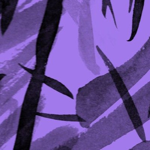 Black on Purple India Ink Marks