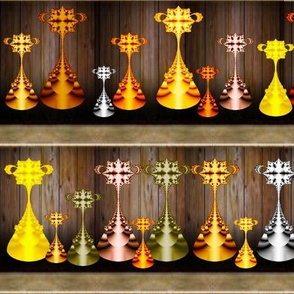 Wall of Fractal Trophies