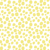PALE YELLOW DOTS on white