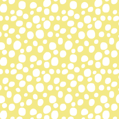 WHITE DOTS on pale yellow