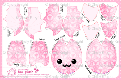 Cut & Sew Plum Blossom Bat Plush