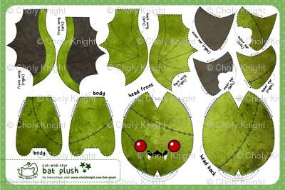 Cut & Sew Zombie Bat Plush