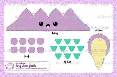 Cut & Sew Purple Dino Plush