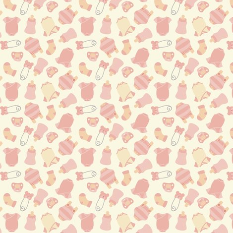 Baby girls fabric dorkydoodles spoonflower for Baby girl fabric