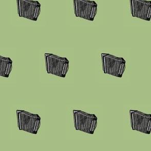 accordion on green
