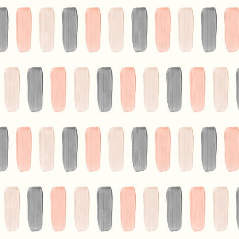 pink and grey paint on cream fabric by littlearrowdesign on Spoonflower - custom fabric
