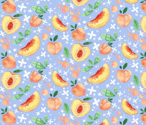 Peach Tea fabric by anniedrawsthings on Spoonflower - custom fabric