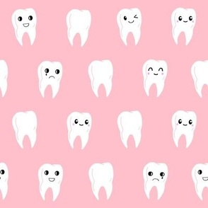 Vector seamless pattern with cute little tooth fairy with ... |Cute Teeth Wallpaper