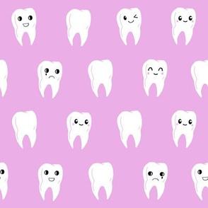 tooth fabric // cute kawaii teeth tooth fabric by andrea lauren