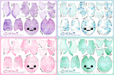 Cut & Sew Bat Plush Compilation - Pastel