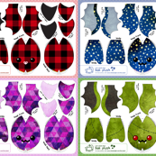 Cut & Sew Bat Plush Compilation Dark