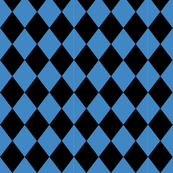 Circus diamonds blue and black