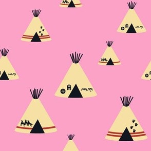 Teepees - Pink