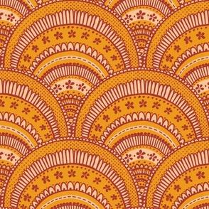 Doodled Scallops - Saffron