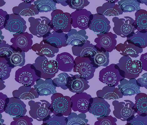 The Wishing Blooms {Violet} fabric by ceciliamok on Spoonflower - custom fabric