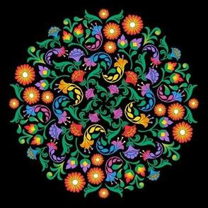 Folk Art Mandala Small