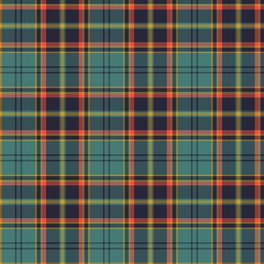 "Antrim Irish district tartan, 6"" teal"