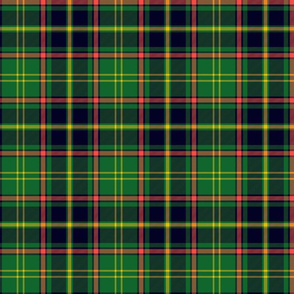 "Antrim Irish district tartan, 6"" green - yellow stripe"