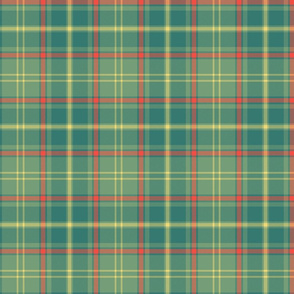 "Antrim Irish district tartan, 6"" faded - yellow stripe"