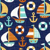 sail away - dark blue