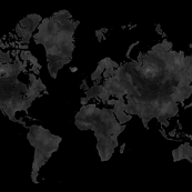 Black and gray world map