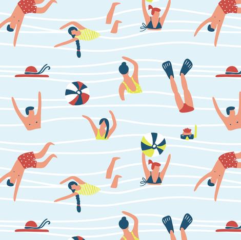Swimmers  fabric by alenkakarabanova on Spoonflower - custom fabric