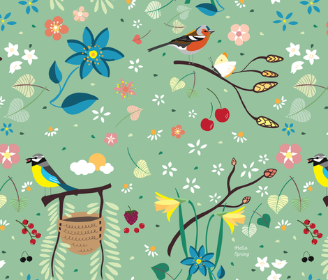 Spring season fabric by agathests on Spoonflower - custom fabric