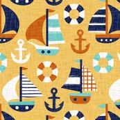 sail away - dark yellow