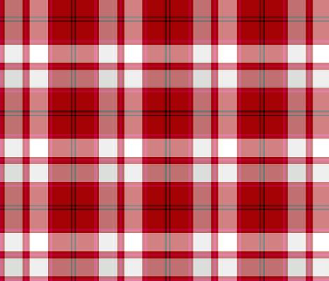 Cameron hose tartan - magenta stripe fabric by weavingmajor on Spoonflower - custom fabric