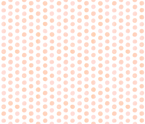 Watercolor Dots - Blush fabric by nadiahassan on Spoonflower - custom fabric