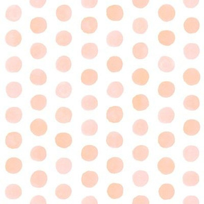 Watercolor Dots - Blush