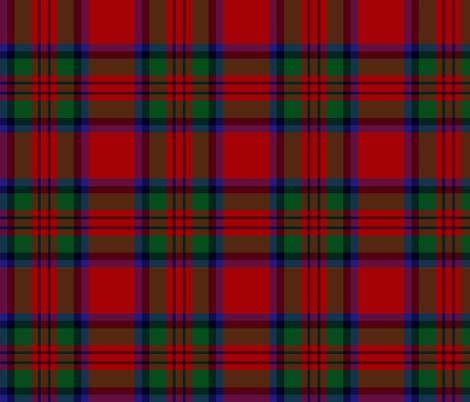 "MacDuff tartan - 6"" black line, large red fabric by weavingmajor on Spoonflower - custom fabric"