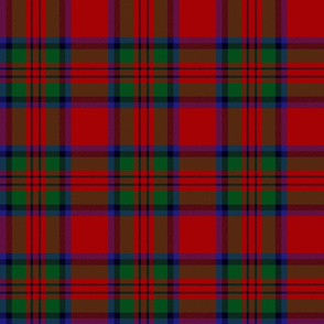 "MacDuff tartan - 6"" black line, large red"