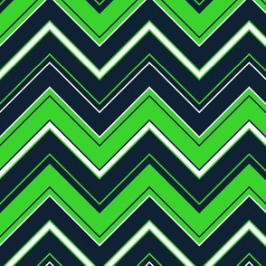 Lime and blue chevron stripes