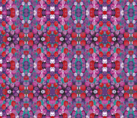 Red and Purple Poppy fabric by peaceofpi on Spoonflower - custom fabric