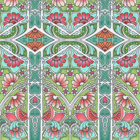 Wonderland Garden Wander fabric by edsel2084 on Spoonflower - custom fabric