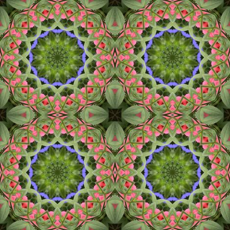 Green Weave Mandala 0962 fabric by falcon11 on Spoonflower - custom fabric