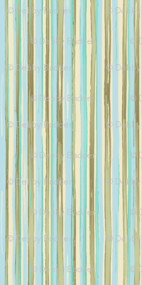 kitchen stripes - aqua multicolor