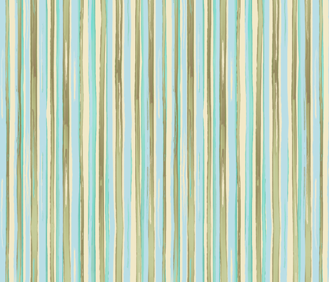 kitchen stripes - aqua multicolor fabric by designed_by_debby on Spoonflower - custom fabric
