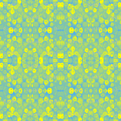 Faded Lemon and Lime Flowers