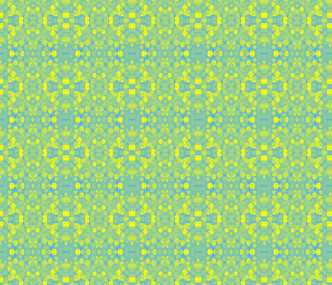 Faded Lemon and Lime Flowers fabric by peaceofpi on Spoonflower - custom fabric