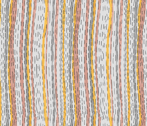 Imperfect Dotted Stripes fabric by toocoolunicorn on Spoonflower - custom fabric