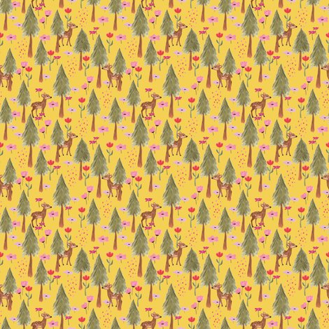 Rrrspoonflower_mountains_deers_yellow_shop_preview