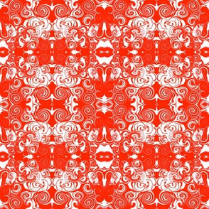 Red and White Spiral Doodles