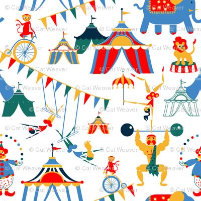 Retro Circus Scene