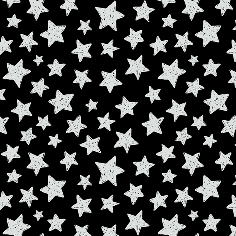 doodles stars fabric by alenaganzhela on Spoonflower - custom fabric