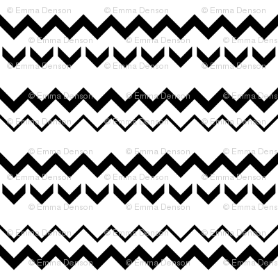 SouthWestern Zigzags B+W