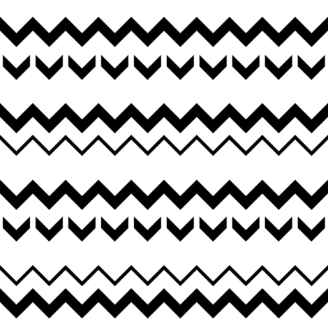 SouthWestern Zigzags B+W fabric by woodmouse&bobbit on Spoonflower - custom fabric